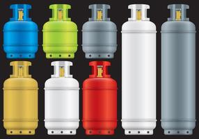 Vectores de cilindros de gas