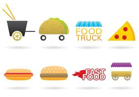 Vetores do logotipo do caminhão de alimentos