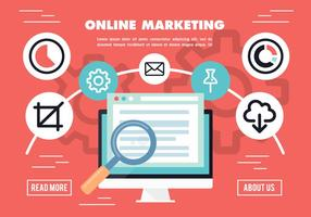 Flat Online Market Research Vector Background