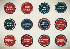 Free Vector Badges Set