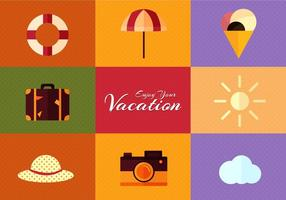 Free Vector Summer Flat Design Set
