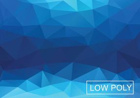 Blue Geometric Triangular Background
