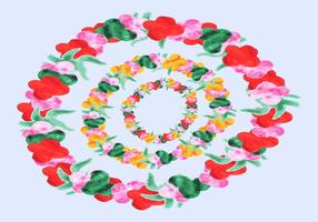 Free Hawaiian Leis Watercolor Vector
