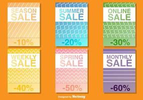 Modelos vetoriais de cartaz de venda sazonal