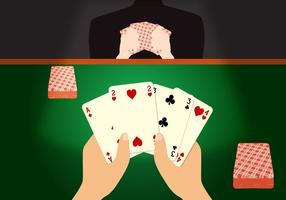 Vecteur de jeu de poker