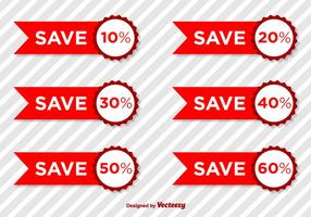 Produktrabatt Vector Tags
