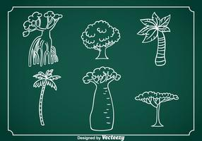Exotic Tree Hand Drawn Vector