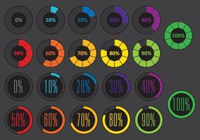 Vecteurs de pré-chargeur de cercle coloré vecteur