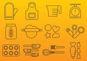 Bakery Line Icons vector