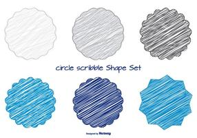 Fun Scribble Shapes Set vector