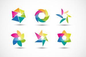 Färgfärger Logos Vector