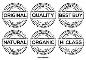 Distintivos Promocionais de Grunge Vector