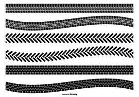 Set di forme vettoriali traccia di pneumatici