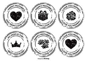 Moederdag Grunge Badge Set