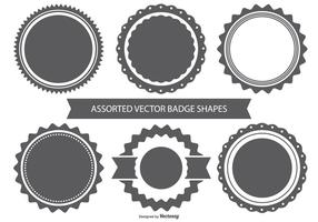 Vector Badge Shape Set