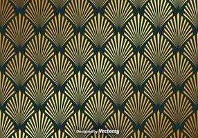 Vector Gouden Naadloos Patroon Met Elegante Vormen
