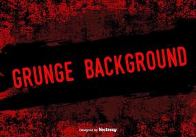 Fondo rojo del vector del Grunge