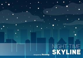 Night Skyline Vector Bakgrund