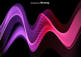 Pink And Purple Abstract Modern Wave