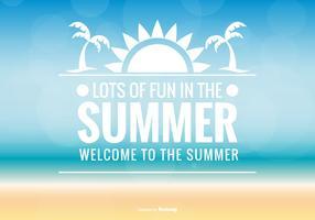 Contexte typographique d'été