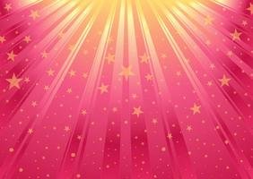 Vector Pink Abstract Background With Stars