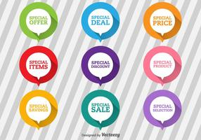 Special Offer Flat Labels vector