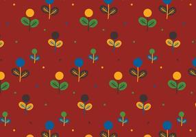 Färgglada Växter Mönster