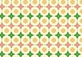 Fundo de padrão de azulejo floral