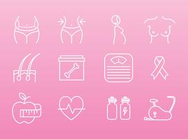 Women Health And Beauty Icons vector