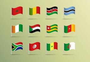 Afrika Fahnen Vektor frei