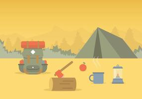 Vector de camping