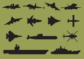 Flugzeugträger Silhouetten