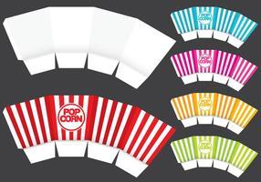 Modello di scatola di popcorn vettore