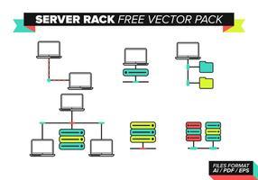 Pacote de vetores grátis para rack do servidor