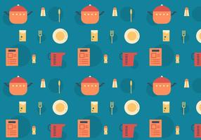 Recipe Card Vector Pattern