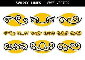Swirly Zeilen Free Vector