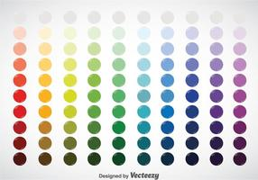 Circle Color Swatches Vector