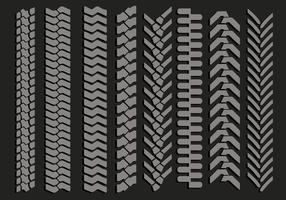 Vectores de marcas de neumáticos