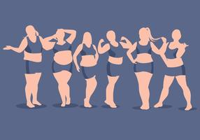 Full figured vrouw vector