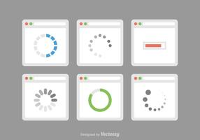 Icônes vectorielles préchargées gratuites vecteur