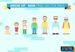 Grow Up Man Gratis Vector Pack