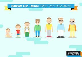 Växa upp man fri vektor pack