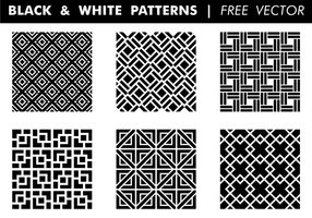 Black & White Patterns kostenloser Vektor