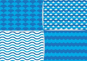 Blue Water Element Pattern vector