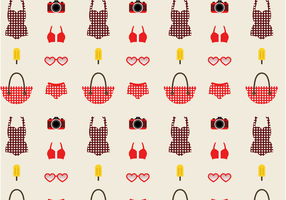 Vector Vintage Free Swim Pattern Vector