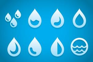 Drop water icons vector
