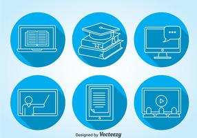 Online Education Icons Vector