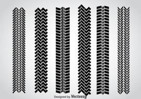 Tire Marks Vector Set