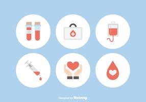 Libre de sangre de donación de iconos vectoriales
