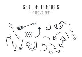 Vecteur set de flechas